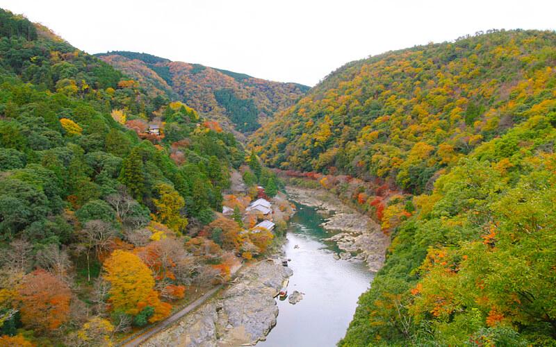 嵐山公園からの景色