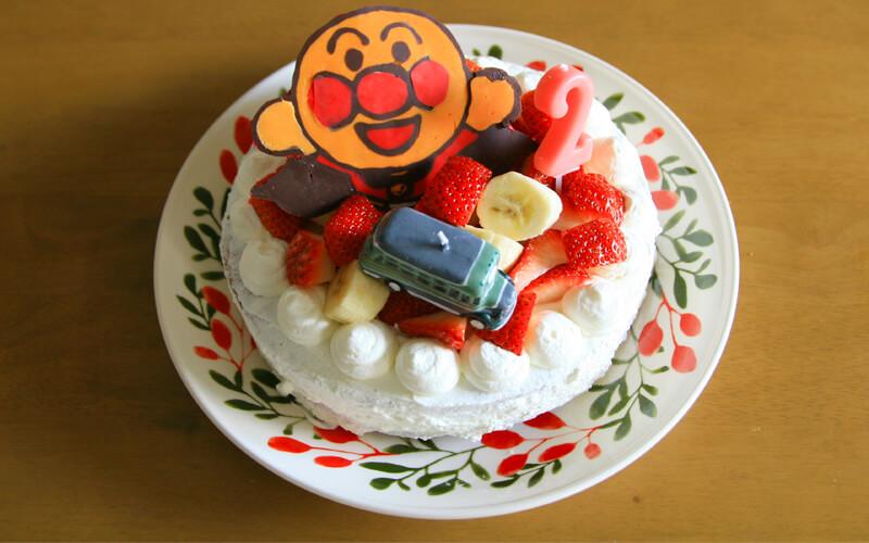 作ったアンパンマンケーキ