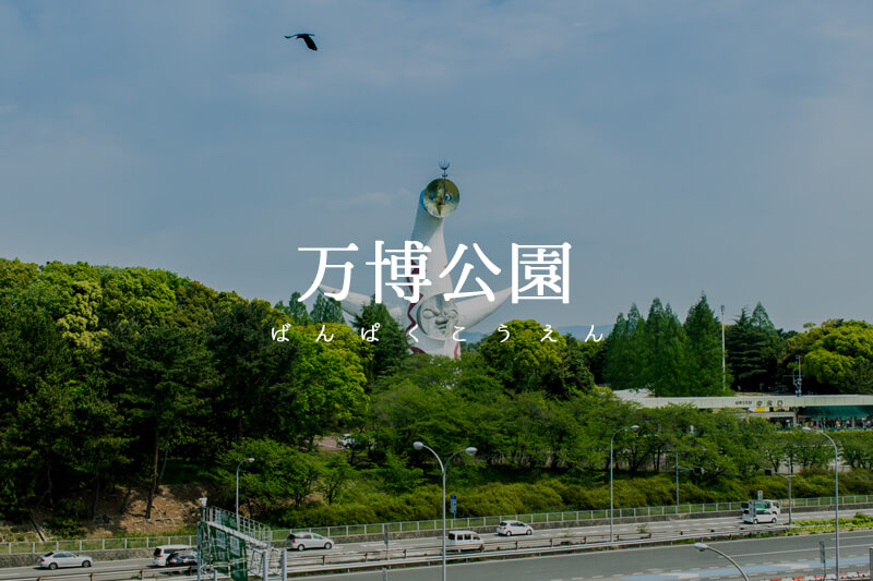 新緑美しい万博記念公園とカレーEXPO