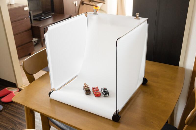 撮影ボックスを100均の材料を使って自作してみた