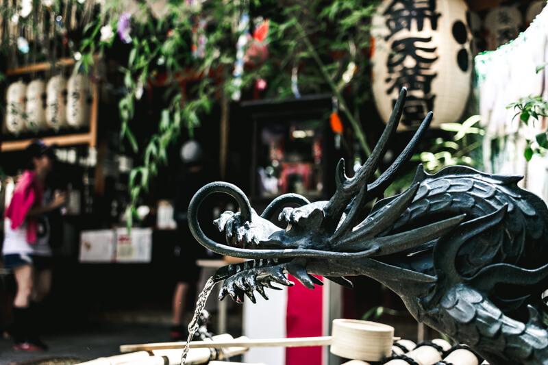 錦天満宮の龍の写真