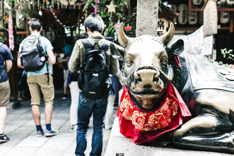 錦天満宮の撫で牛