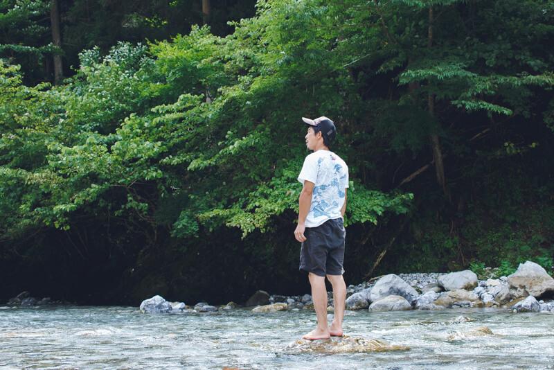 安養寺近くの芹川で遊ぶ3