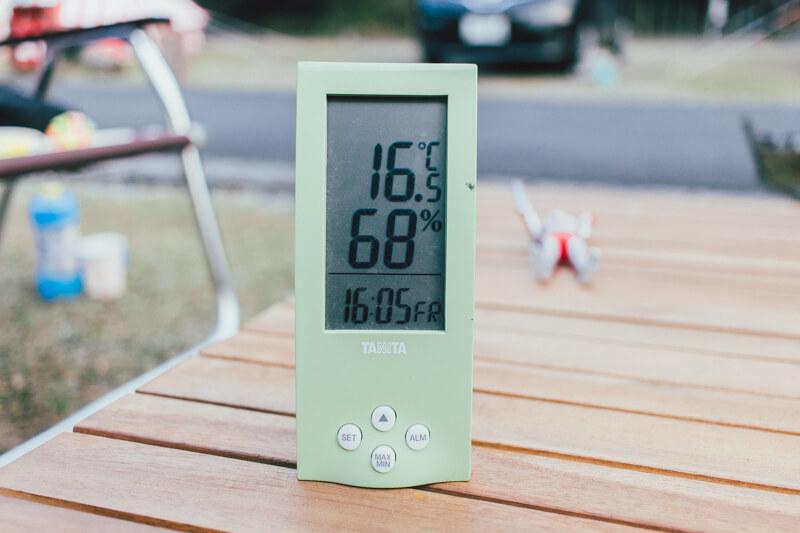 白川渡オートキャンプ場の温度16時