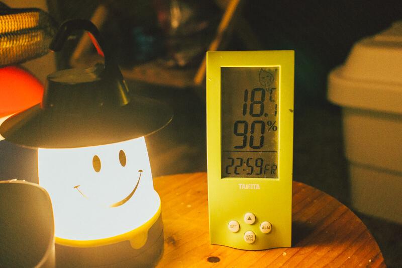 白川渡オートキャンプ場の温度23時