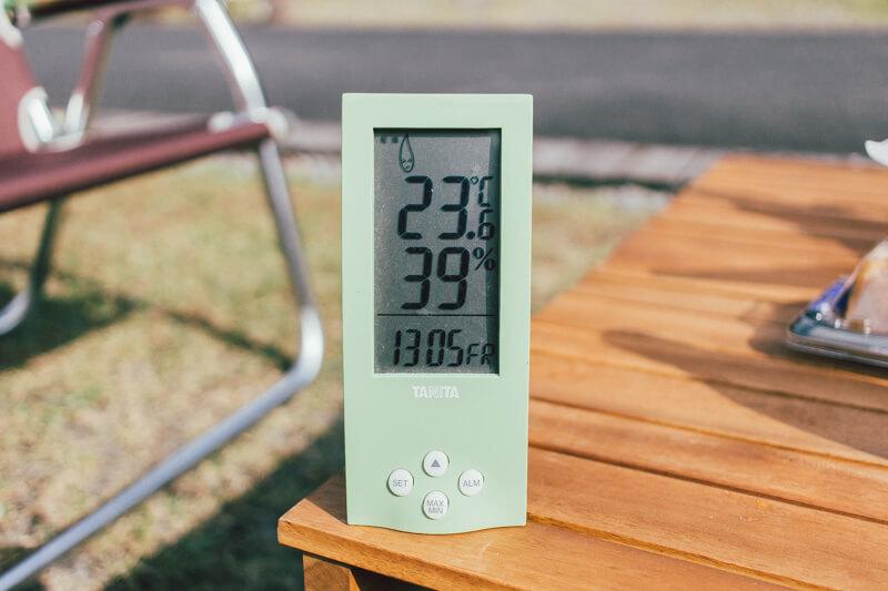 白川渡オートキャンプ場の温度13時