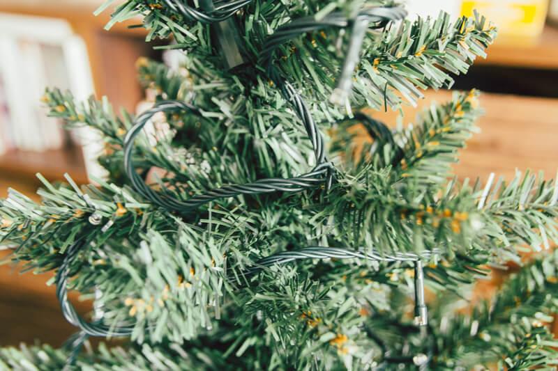 ニトリのクリスマスツリー電飾