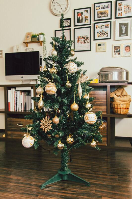 ニトリのクリスマスツリー完成