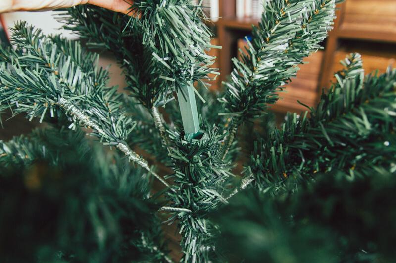 ニトリのクリスマスツリー上部