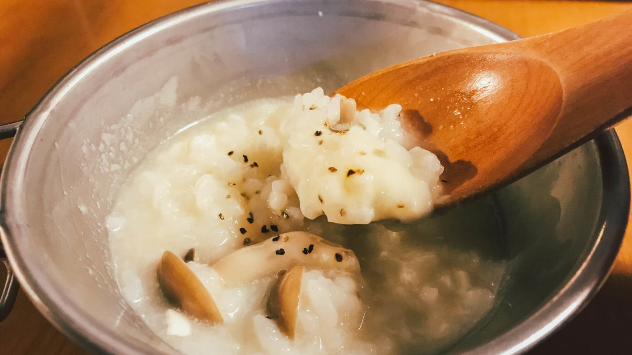 塩レモン鍋の〆のリゾット