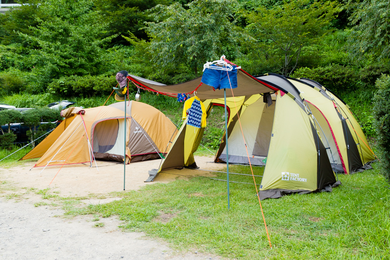 場 キャンプ 細野 渓流