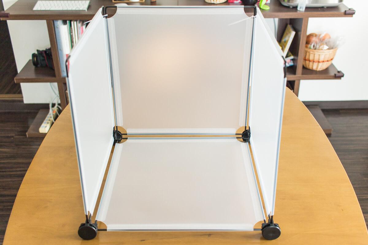 自作の撮影ボックス使用