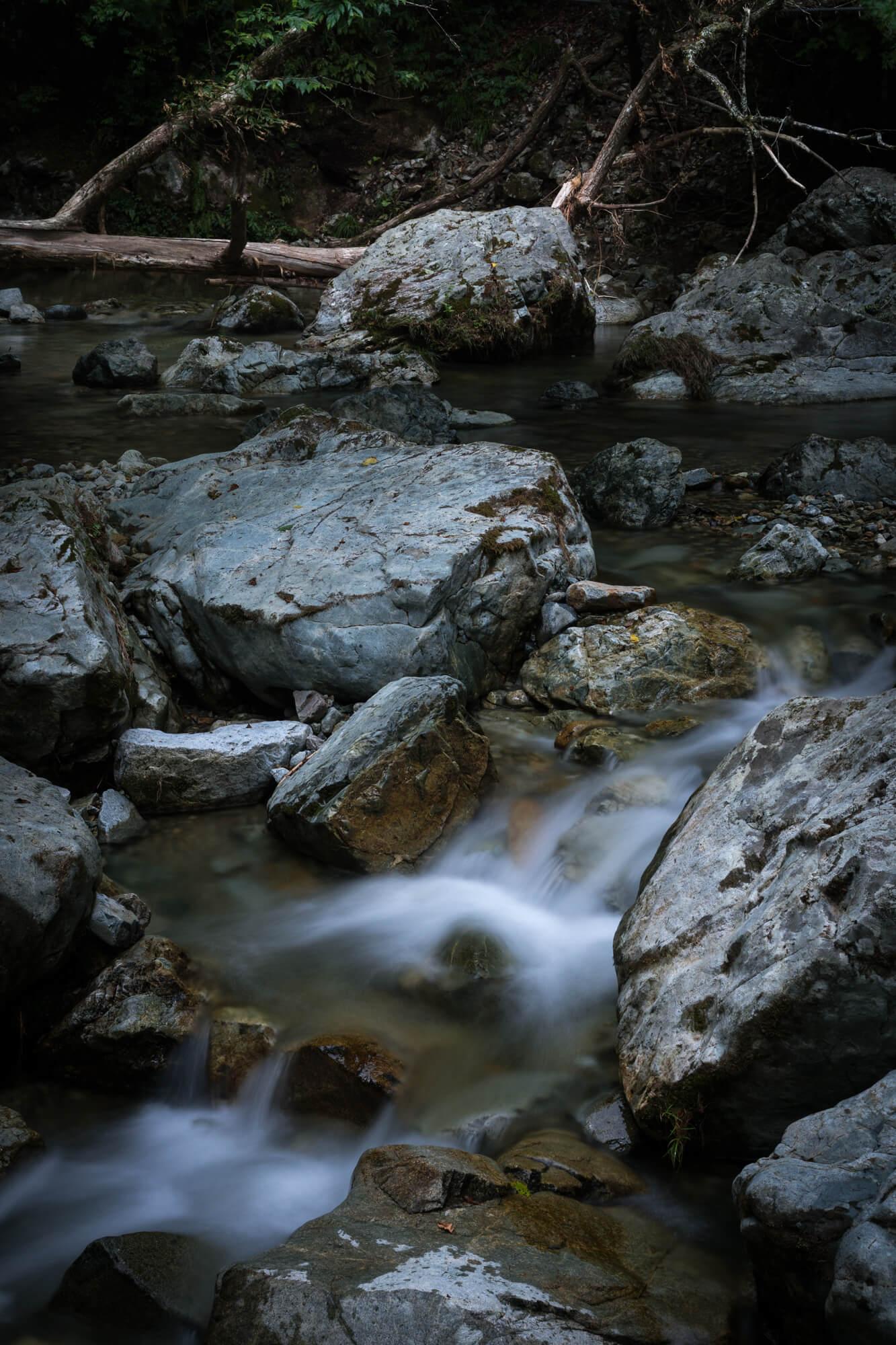 ND200を使って撮った原不動の川