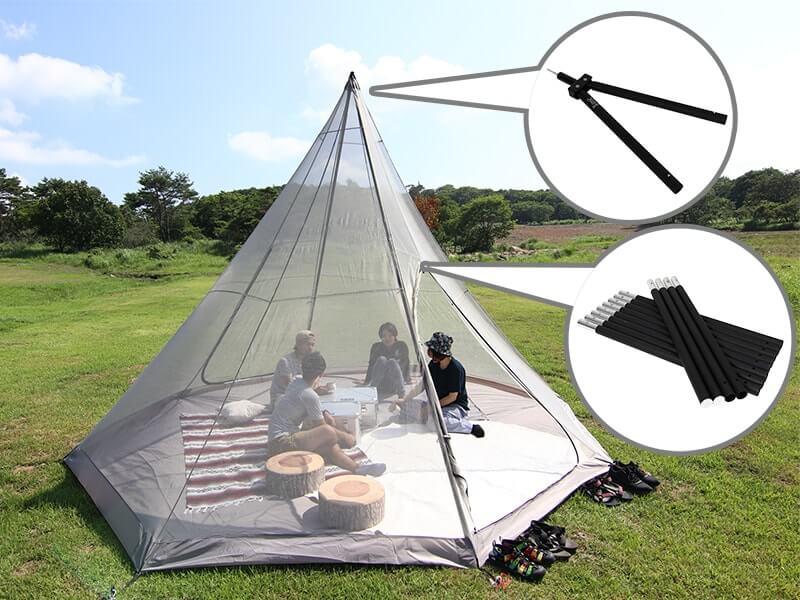 フタマタノサソイを使ったテントの画像