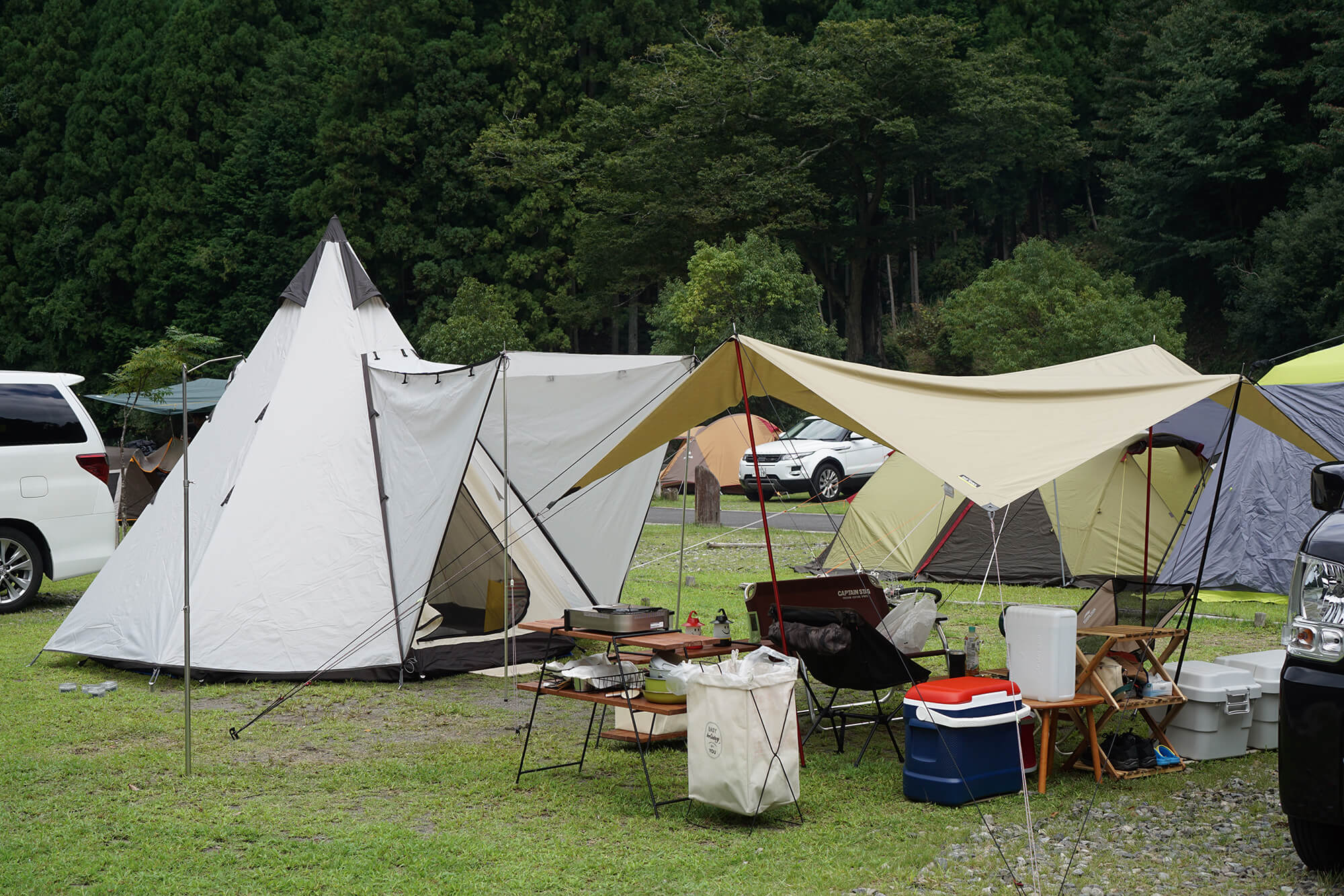 UJackのテントを使ったサイトレイアウト写真