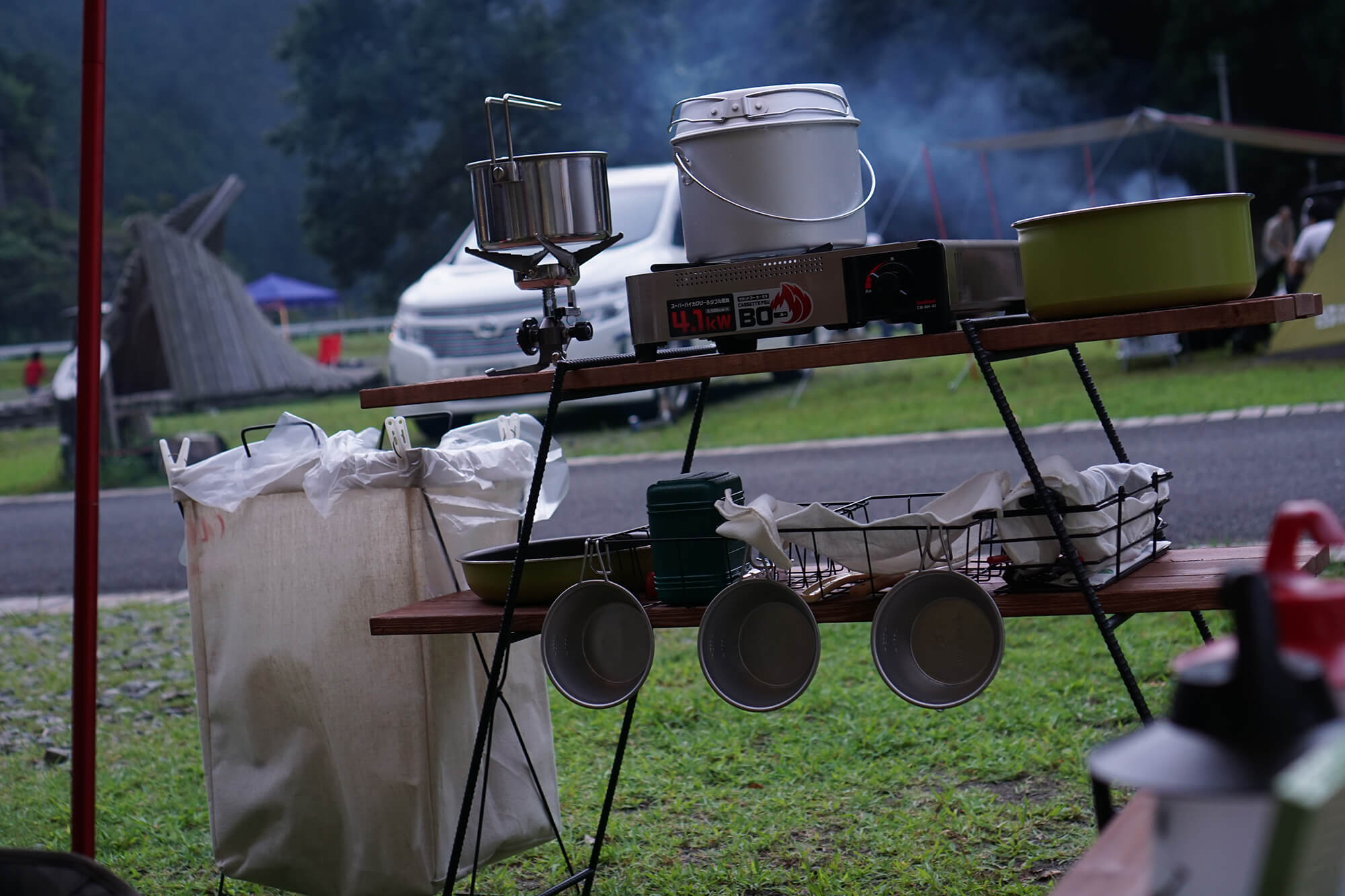 お米の準備をしている画像