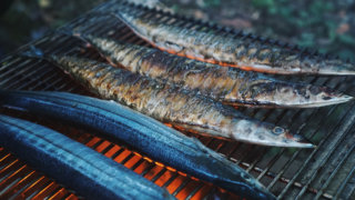 秋キャンプといえば秋刀魚な写真