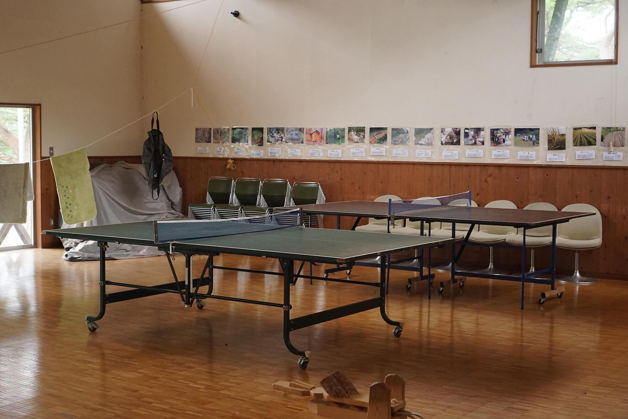 山崎アウトドアランドの卓球台の写真